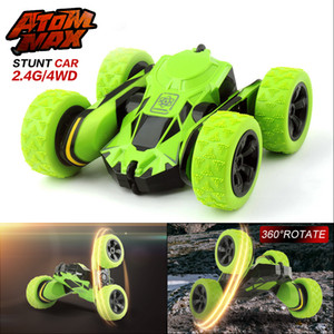 1 28 2.4GHz RC Stunt Car Tumbling Crawler Vehicle 360 Degree Flips Double Sided Rotating Tumbling Mini RC Cars Y200317