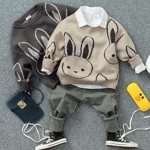 Девушка свитер 2019 весна осень Кролик вязаные длинные кардиганы девочка одежда 2-8Y