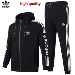 Moda Uomo Casual tuta maschile Sportswear Felpa Jacket + pant 2 collega gli insiemi di tuta con cappuccio Donne impostato Tute da jogging originale