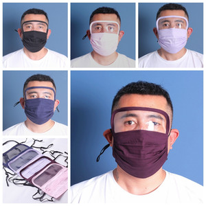 New design Face mask with eye Shield washable 2 layers cotton facemask with slot people protective safety mouth masks dhl