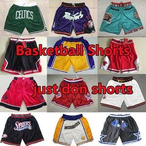 pantalones cortos de baloncesto cosidas apenas no pantalones cortos lebron Carter Mitchell & Ness Todos los equipos Sweatpants Pantalones de baloncesto