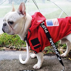 Fashion Dog Clothes Outdoor Windproof Waterproof Jackets Dog Windbreaker Sport Retro Coat Large Dog Puppy Pugs Pet Clothes T200710