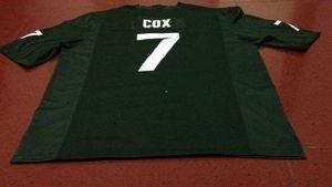 Men # 7 Demetrio Cox Michael Geiger Michigan State Spartans Alumni VERDE Jersey de la universidad de S-4XLor encargo cualquier nombre o el número del jersey