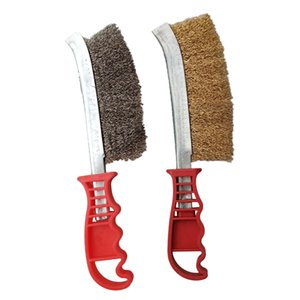 2pcs Dense Wire Hand Brushes Metal Rust Paint Cleaning Tool