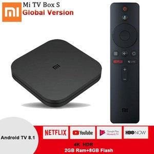 Xiaomi Mi caja de la TV S Android 8.1 TV Box Global versión 4K HDR de cuatro núcleos de control de Bluetooth 4.2 2 GB DDR3 inteligente