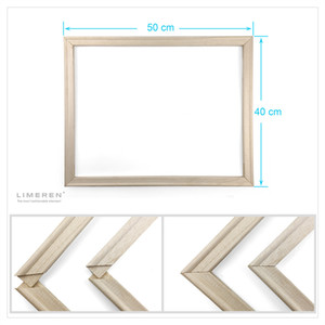 DIY Wood Inner Frame For Oil Painting By Numbers Print Canvas Poster Size 40*50CM