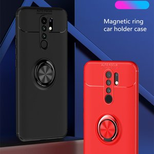 Magnetic Ring Stand Phone Case for XIAOMI Redmi 9 Anti-Drop Protection Full Cover Car Holder Case