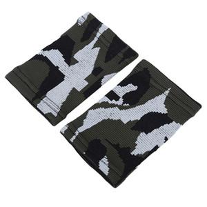 2PCS Camo Nylon unisexe Sport Sweatband Wristband poignet Protector Courir Badminton Basketball Brace Tissu Sweat Band