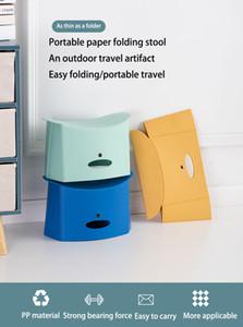 Открытый Пластиковый складной стул Легкий рыбалки бумаги Портативный складной Mini Camping Beach Chair Выдвижной Складной стул легко носить с собой