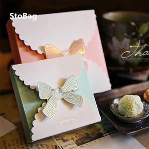 STOBAG 10pcs Bianco Cartone Sapone Fiore Grande Gift Box Candy cottura Confezione Cartone torta che decora l'arco da festa di nozze