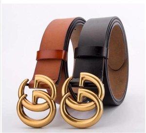 Primera marca de piel Cinturón Hombres Mujeres Oro Plata Gemelos mano de alta calidad 120cm ocasionales de los hombres de la correa de los pantalones vaqueros de moda