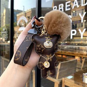2020 Цвета Медведь Key Chain Accessorieswomen кисточкой брелок Кожа PU Медведь Pattern автомобилей Keychains женщин сумка Шарм ювелирные изделия Рождественский подарок