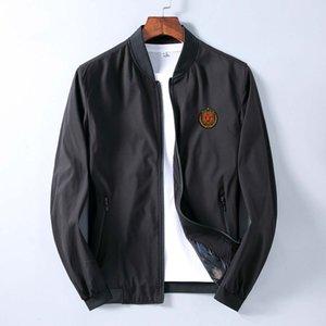Designer Fashion Mens Medusa Jacket Windbreaker Long Sleeve Mens Jacket Solid Color Zipper Casual Mens Aviator Jacket
