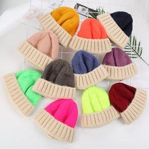 les garçons et les filles de style coréen pullover melon chaud Pull Shorty tricot fourrure saison bébé laine chapeau épais chapeau tricoté pour les enfants