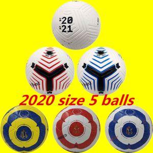 20 21 Beste Qualität Spiel Fußball 2020 Größe 5 Bälle Granulat rutschfester Fußball Frei hochwertige Kugel Versand