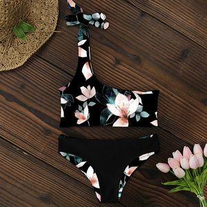 Bikini Women Swimwear Push Up Swimsuit One Shoulder Print Brazilian Bikini Set 2020 Biquini Bathing Suit Beach Swimming Suit T200713