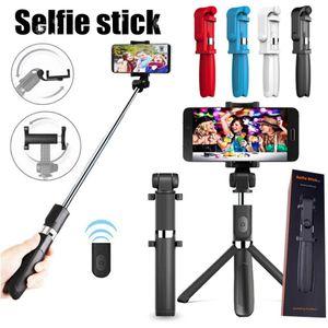 L01 drahtlose Bluetooth Remote Ausziehbare Selfie Stock-Handystandplatzhalter 3 in 1 Kamera-Stativ für Smartphone MQ100