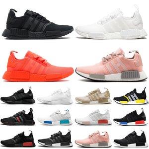 Adidas nmd r1 v2 erkekler kadınlar koşu ayakkabı açık üçlü siyah beyaz Thunder mens womens eğitmenler spor sneakers koşucu