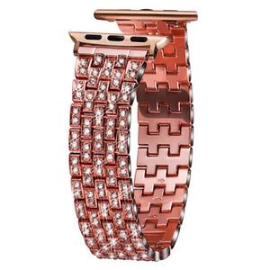 cinghia bracciale in metallo pieno di lusso del diamante per la serie iWatch 5 4 3 2 1 42 millimetri di modo della fascia 44 millimetri per 40 millimetri 38 millimetri Apple Osservare