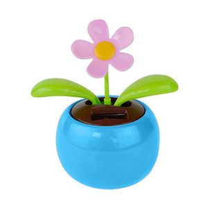 Auto Ornamenti Solar Powered Fiore Danza Swinging Animated ballerino Toy Car Decoration Nuovi Accessori # PY10