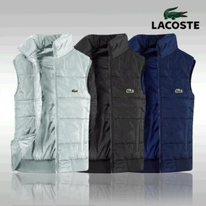 Nueva chalecos mangas de los hombres para hombre de la chaqueta de algodón acolchado-Lacoste Hombres Chaleco de otoño invierno Casual Abrigos Hombre Chaleco 4XL 00000