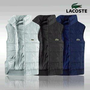New Coletes Men Mens mangas Jacket algodão acolchoado Lacoste Men Vest Outono Inverno Casual Coats Masculino Colete 4XL 00000