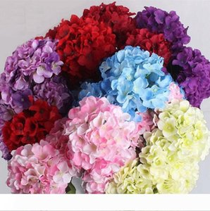 Artificial Flowers Head Fashion Wedding Silk Artificial Hydrangea Flowers HEAD DIY Women Wreaths Home Ornament Decoration Christmas DHG32