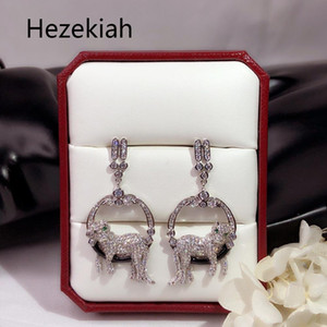 Hezekiah S925 Tremella needle Leopard Tassels Earrings Luxurious Luxury high-end Banquet Eardrop French quality Free shipping Dance