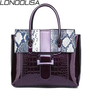 LONOOLISA Sac A Haupt Femme Lackleder Damen Handtaschen für Frauen 2020 Serpentine Luxus-Handtaschen-Frauen-Beutel Designer Bolso