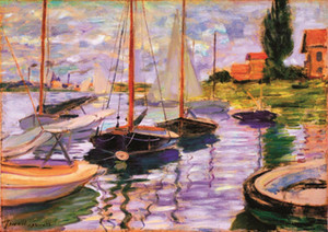 Van Gogh -Sailboats Home Decor Handpainted &HD Print Oil Painting On Canvas Wall Art Canvas Pictures 200714