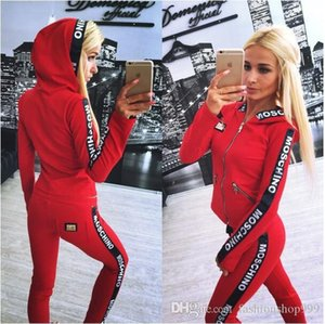 2017Hot Sale pink Women's Tracksuits spring style sweat shirt Print tracksuit women Long Pants Pullover Tops Womens set Women Sport Suits
