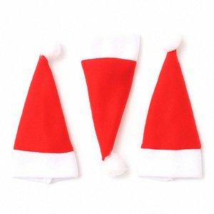 NEW 10шт Рождество Caps Ножевые держатель Вилка Ложка Карманный Рождество Декор мешок iojT #