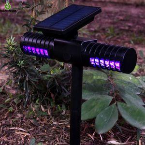 Solarmoskito-Mörder-Lampen USB Mosquito Trap-UV-Anti-Moskito-Nachttischlampe Solarrasenlicht für Garten-Yard-Straße
