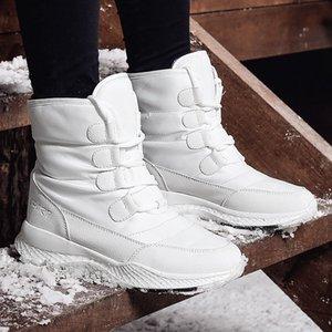 TUINANLE femmes Bottes hiver Blanche-Neige Bottes de style Etanchéité supérieure antidérapante Qualité peluche noire Botas Mujer Invierno
