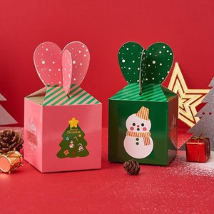 Сочельник бумаги компании Apple Box Санта-Клауса Рождественская елка шаблон KIDs конфеты Десерт держатель Подарочная упаковка для вечеринок