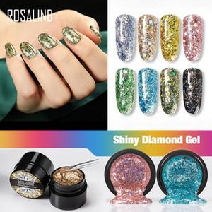 Gel smalto smalto bling glitter diamante ibrido vernice 5ml nail art gel di vernice set per manicure semi permanente base gel top lak