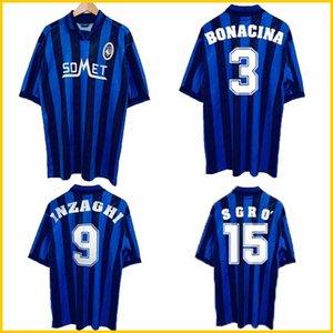 1996 1997 Atalanta Bergamasca retro soccer jersey 96 97 Filippo Inzaghi Bonacina Sgro Morfeo vintage classic football shirt