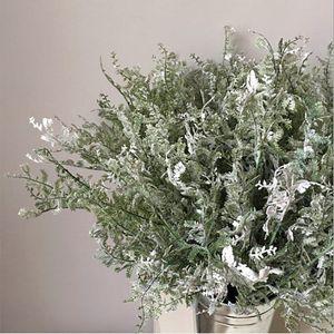 Plastic Artificial Flower Branch Cypress Leaves Artificial Flowers Fake Silk Flower Plant Party Wedding Decoration Living Room Home Decor