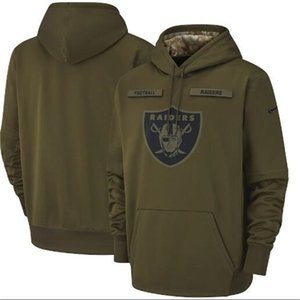 Mens Women Youth Oakland Hot Style Raider Hoodie Sweatshirt 2018 Olive Salute to Service Sideline Therma Performance Pullover Hoodie