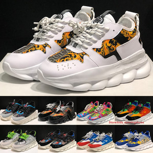 Cadeia Moda 2 instrutores de alta qualidade Mens Womens Sneakers Cruz 2.0 Designer Ouro Branco Multicolor impressão que executam Sports Shoes Tamanho 36-45