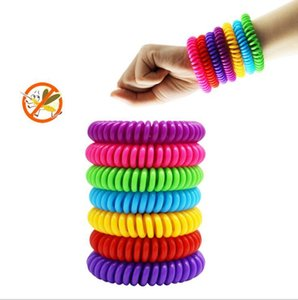 Portable Anti-mosquito Bracelet Mosquito Repellent Bracelet Elastic Coil Spiral Hair Wrist Band Telephone Ring Chain Party Favor H262 030