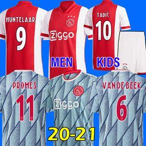 MEN + KIDS (20) (21) 멀리 아약스 축구 유니폼 PROMES 알바 레즈 아약스 암스테르담 camiseta 드 푸 웃 NERES 2020 2021 VAN DE 크는 타 디치 ZIYECH의 타이츠