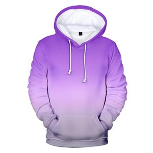 Neutral Hoodie Sweatshirt New 2020 New Fashion Gradient Color Hooded Autumn and Winter Purple High Quality Top
