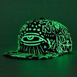 Il nuovo modo di fluorescenza berretto da baseball delle donne degli uomini Snapback Caps Luminous Gorras Sport Casquette Hip Hop del cappello della protezione Drop Shipping D19011502