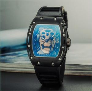 미국의 레저 남자와 여자 유령 해골 시계 스포츠 패션 간단한 석영 디자이너 시계 테이블 학생 실리콘 스트랩 시계
