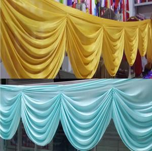 Hochzeit Hintergrund Vorhang Swag Partei Bankett Hintergrund Dekoration Röcke Eis Seidenstoff Dekor Hochzeit Vorhangentwurf für Tisch