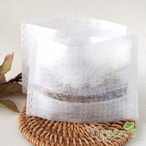 100pcs lot 7*10cm PLA Corn Fiber Biodegraded Empty Teabags Infuser Filters Strainers for Coffee Herb Loose Tea