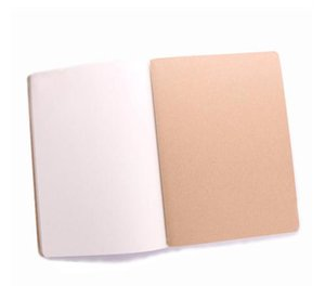 Kraft Brown Unlined Travel journals notebook Soft Cover Notebooks A5 Size 210 mm x 140 mm 60 Pages 30 Sheets stationery office