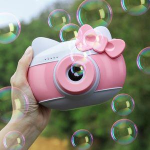 Новый Автоматический смешной милый мультфильм кот рыбы Свинья камеры Детские Bubble Machine Открытый Автоматическая Maker Bubble Подарки для детей и девочек