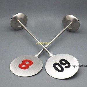 40pcs in acciaio inox Numero Table Stand Numero Desktop controsoffitto metallico Signage Restaurant Table segno standing